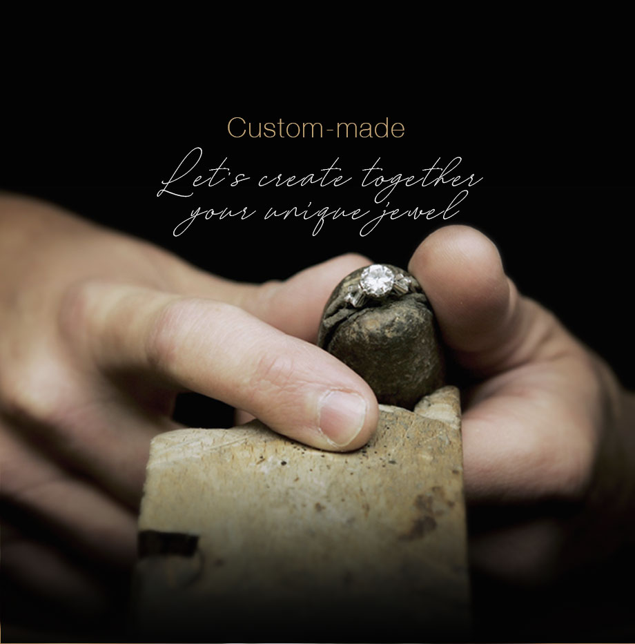 Custom-made jewelry : create your unique jewel, contact us